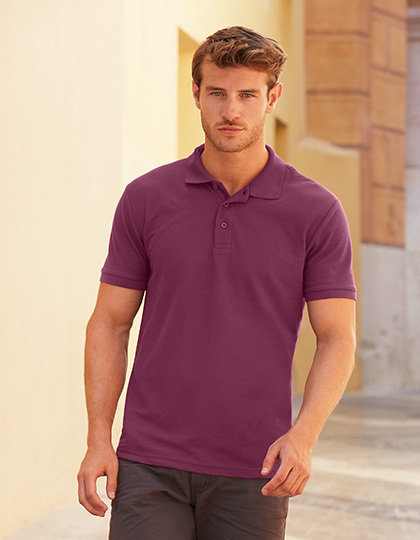 F502 Pique Polo Fruit of the Loom 65/35, goedkope mooie Poloshirts Logo Borduren