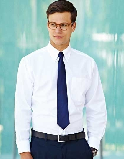 F600 Heren Oxford Shirt met lange mouwen Fruit of the Loom