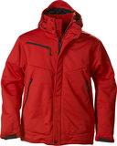 2261035 Softshell Jas SKELETON Heren ZWART Printer Winterjas rood logo borduren