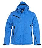 2261035 Softshell Jas SKELETON Heren ZWART Printer Winterjas oceaanblauw logo borduren