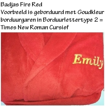 ARC402 Badjas met Capuchon  Fire Red (rood) A&R