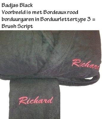 ARC101 Badjas met Capuchon Black (zwart) A&R