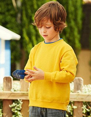 F324K Set-in Sweat Kinder sweaters Fruit of the Loom