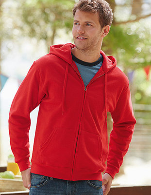 F401N Classic Hooded Sweat Jacket Fruit of the Loom