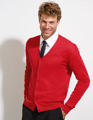 L418 Golden Men V-Neck Knitted Cardigan Sol's