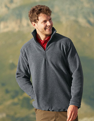 F820 Half-Zip Fleece Fruit of the Loom