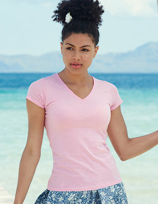 F271N Lady-Fit Valueweight V-neck T Fruit of the Loom