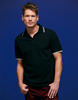 JN966 Heren Coldblack Polo JAMES & NICHOLSON, nette poloshirts logo borduren