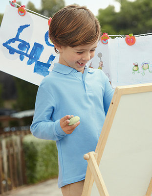 F504K Kids Polo Longsleeve Fruit of the Loom 65/35