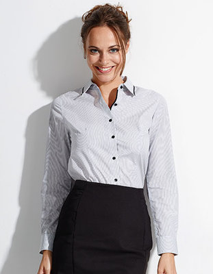 L608 Womens Long Sleeves Fitted Shirt Baxter Sols