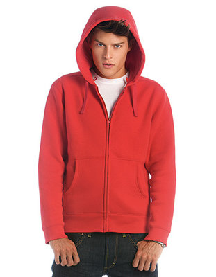BCWM647 Hooded Full Zip Sweat/Heren B&C
