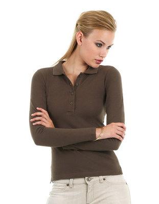 BCPW456 Polo Safran / Pure Longsleeve/ Women B&C