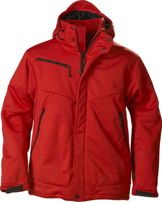 Softshell Jas SKELETON Heren ROOD Printer Winterjas