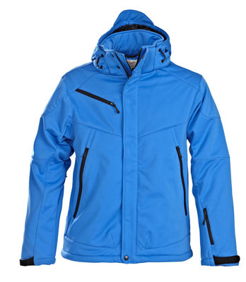 Softshell Jas SKELETON Heren OCEAANBLAUW Printer Winterjas