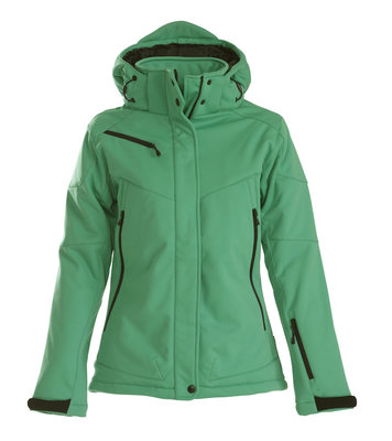 Softshell Jas SKELETON Dames FRISGROEN Printer Winterjas