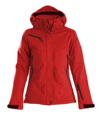 Softshell Jas SKELETON Dames ROOD Printer Winterjas