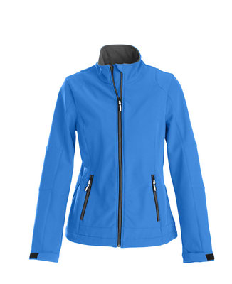 Softshell Jas TRIAL Dames OCEAANBLAUW Printer