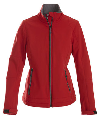 Softshell Jas TRIAL Dames ROOD Printer