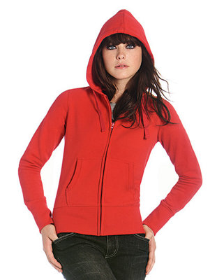 BCWW642 Hooded Full Zip/Dames B&C