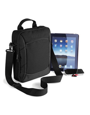 QD264 Executive Ipad Case Quadra met Logo of Tekst Borduren of geborduurde Badge