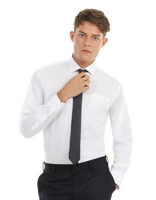 BCSMT81 Twill Shirt Sharp met lange mouwen B&C