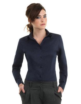 BCSWT83 Dames blouses met lange mouwen B&C met Bedrijfslogo borduren