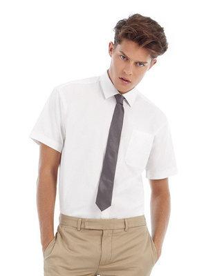 BCSMT82 Twill Shirt Sharp met korte mouwen B&C