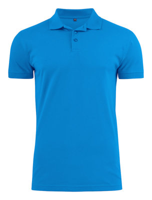 Surf Stretch Polo Heren OCEAANBLAUW Printer