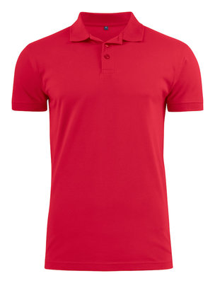 Surf Stretch Polo Heren ROOD Printer