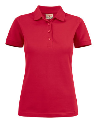 Surf Stretch Polo Dames ROOD Printer