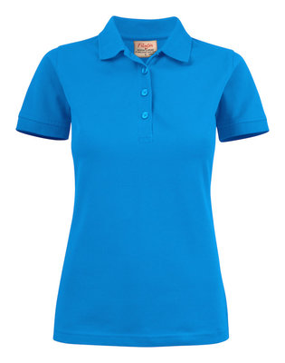 Surf Stretch Polo Dames OCEAANBLAUW Printer