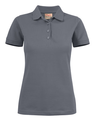 Surf Stretch Polo Dames STAALGRIJS Printer