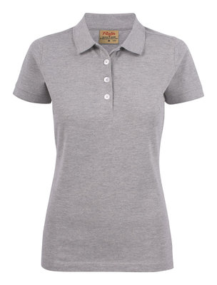 Surf Stretch Polo Dames GRIJS MELEE Printer
