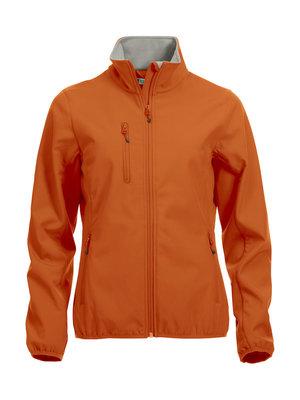 0209015 Dames Softshell JasDiep oranje merk Clique
