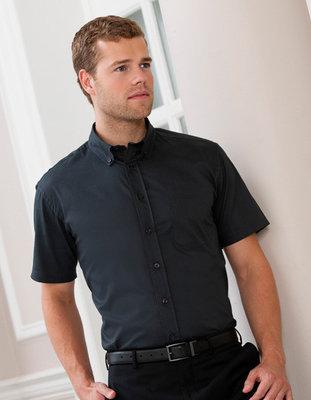 Z917 Heren Classic Twill Shirt met korte mouwen RUSSELL