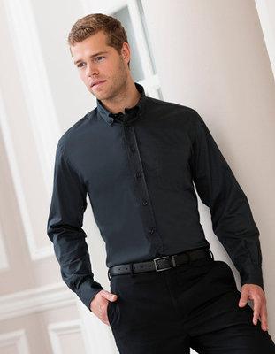 Z916 Heren Classic Twill Shirt met Lange mouwen RUSSELL