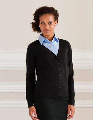 Z715F Dames V-Hals Knitted Cardigan RUSSELL