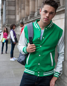 JH043 Varsity Jacket Just Hoods