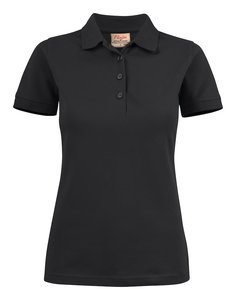 Surf Stretch Polo Dames ZWART Printer