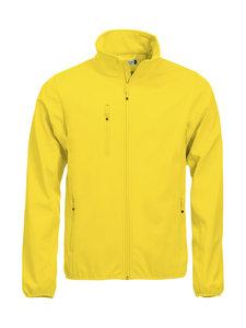 0209010 Softshell Jas Heren Lemon geel merk Clique