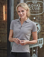 TJ145 dames stretch poloshirts getailleerd