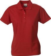 2265014 Surf PRO Polo Dames rood merk Printer borduren met logo