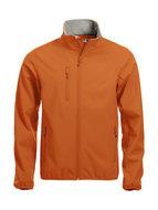 0209010 Softshell Jas Heren Diep oranje merk Clique
